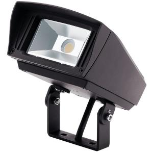 "C-Series - 7"" 12W 3000K 1 LED Trunnion-Mount Outdoor Small Flood Light"