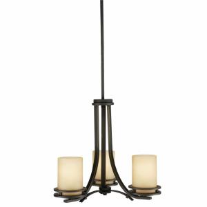 Hendrik - 3 light Chandelier - with Soft Contemporary inspirations - 16.75 inches tall by 19 inches wide