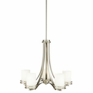 Hendrik - 5 light Chandelier - with Soft Contemporary inspirations - 21.5 inches tall by 24.5 inches wide
