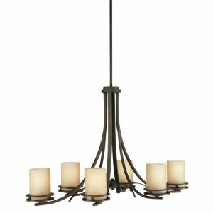 Hendrik - 6 light Chandelier - with Soft Contemporary inspirations - 22.75 inches tall by 18 inches wide