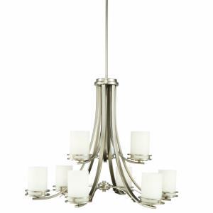 Hendrik - 9 light Two Tier Chandelier - with Soft Contemporary inspirations - 25.75 inches tall by 33.25 inches wide