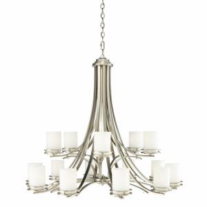 Hendrik - Fifteen Light Two Tier Chandelier - with Soft Contemporary inspirations - 36.25 inches tall by 42.25 inches wide