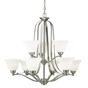 Langford - Nine Light Two Tier Chandelier