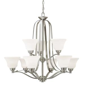 "Langford - 33"" 90W 9 LED 2-Tier Chandelier"