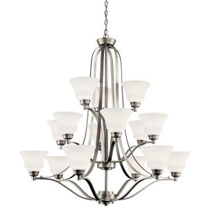 Langford - 43 Inch 150W 15 LED 3-Tier Chandelier