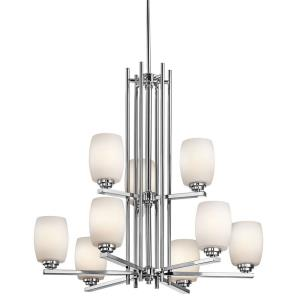"Eileen - 30"" 81W 9 LED 2-Tier Chandelier"