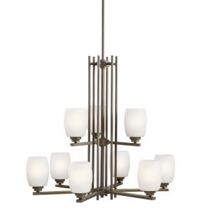 "Eileen - 30"" 90W 9 LED 2-Tier Chandelier"