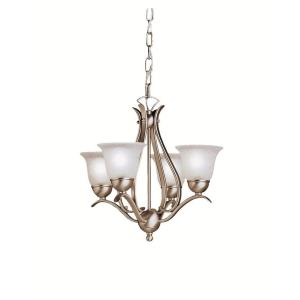 Dover - 4 light Chandelier - with Transitional inspirations - 16 inches tall by 18 inches wide