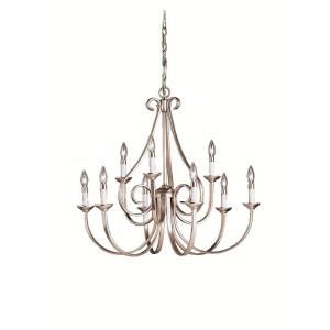 Dover - 9 light Chandelier - with Transitional inspirations - 29 inches tall by 32 inches wide