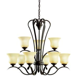 "Wedgeport - 31.75"" 81W 9 LED 2-Tier Chandelier"