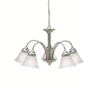 Wynberg - 5 light Chandelier - 13.75 inches tall by 24.5 inches wide