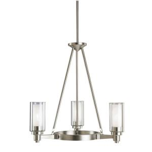 Circolo - 3 light Chandelier - with Soft Contemporary inspirations - 21.5 inches tall by 22 inches wide