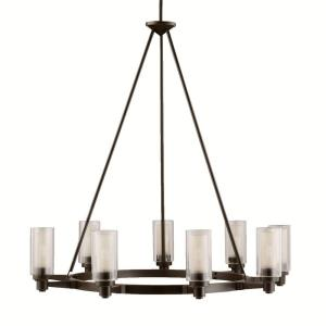 Circolo - 9 light Chandelier - with Soft Contemporary inspirations - 35.5 inches tall by 36 inches wide