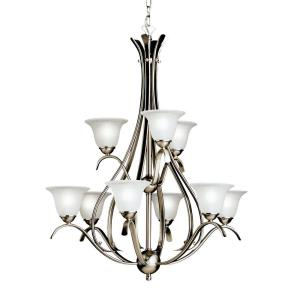 Dover - 9 light Chandelier - with Transitional inspirations - 37 inches tall by 27.75 inches wide