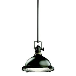 1 light Pendant - with Vintage Industrial inspirations - 11 inches tall by 11.75 inches wide
