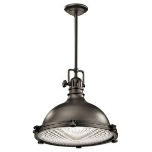 Hatteras Bay - 1 light Mini-Pendant - with Vintage Industrial inspirations - 16 inches tall by 18 inches wide
