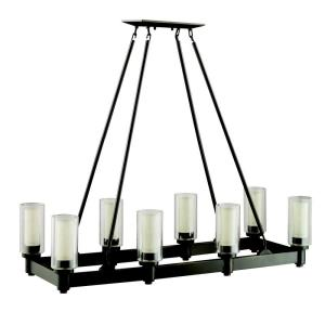 Circolo - 8 light Island Pendant - with Soft Contemporary inspirations - 39.25 inches tall by 14.25 inches wide