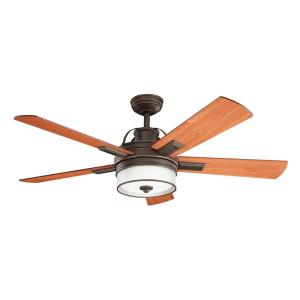 Lacey II - Ceiling Fan with Light Kit - with Transitional inspirations - 16.75 inches tall by 52 inches wide
