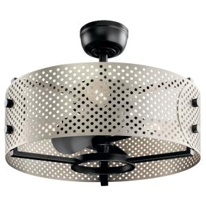 Eyrie - Ceiling Fan with Light Kit - with Contemporary inspirations - 17.75 inches tall by 23 inches wide