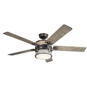 Ahrendale - Ceiling Fan with Light Kit - with Utilitarian inspirations - 16.5 inches tall by 60 inches wide