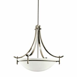 Olympia - 3 light Inverted Pendant - with Soft Contemporary inspirations - 21 inches tall by 24 inches wide
