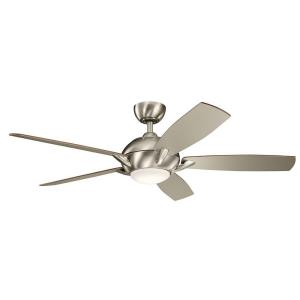 Geno - Ceiling Fan with Light Kit - with Transitional inspirations - 14.5 inches tall by 54 inches wide