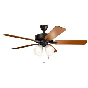 Basics Pro Premier - Ceiling Fan with Light Kit - with Traditional inspirations - 18.5 inches tall by 52 inches wide