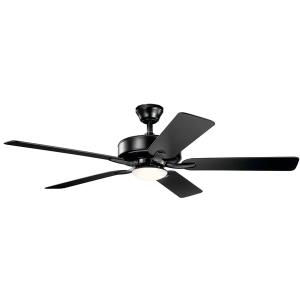 Basics Pro Designer - Ceiling Fan with Light Kit - with Transitional inspirations - 12.5 inches tall by 52 inches wide