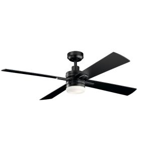 Lija - Ceiling Fan with Light Kit - with Transitional inspirations - 14.25 inches tall by 52 inches wide