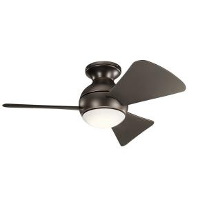 Sola - Ceiling Fan with Light Kit - 11 inches tall by 34 inches wide