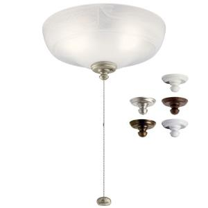 9W 3 LED Large Bowl Ceiling Fan Light Kit - with Transitional inspirations - 5.5 inches tall by 12.5 inches wide