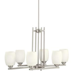 "Eileen - 18.5"" 60W 6 LED Linear Double Chandelier"
