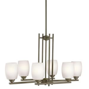 "Eileen - 30"" 54W 6 LED Large Chandelier"