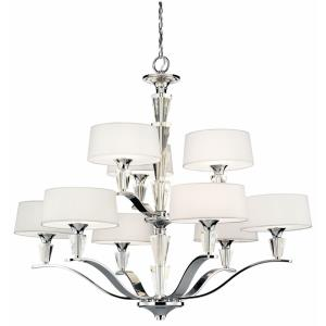 Persuasion - 9 light 2-Tier Chandelier - with Transitional inspirations - 31.5 inches tall by 37 inches wide