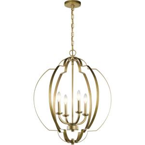 Voleta - 4 light Large Foyer Pendant - 26.25 inches tall by 22 inches wide
