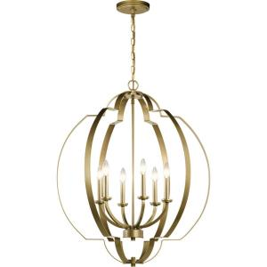 Voleta - 6 light Foyer Chandelier - 32.5 inches tall by 27.75 inches wide