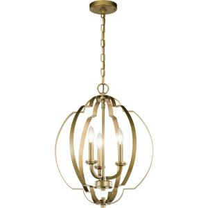 Voleta - 3 light Pendant - 20.75 inches tall by 16.5 inches wide