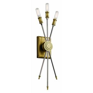 Doncaster Lodge/Country/Rustic 3 Light Wall Sconce