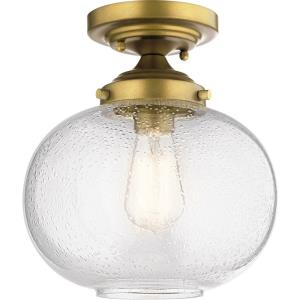 Avery - 1 light Semi-Flush Mount - with Vintage Industrial inspirations - 10.75 inches tall by 9.75 inches wide