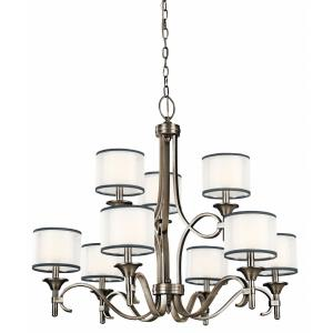 Lacey - 9 light 2-Tier Chandelier - with Transitional inspirations - 29.5 inches tall by 34.25 inches wide