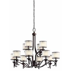 Lacey - Twelve Light 2-Tier Chandelier - with Transitional inspirations - 31.75 inches tall by 42 inches wide