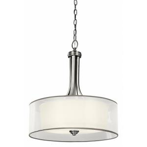 Lacey - 4 light Inverted Drum Shade Pendant - with Transitional inspirations - 23.5 inches tall by 20 inches wide