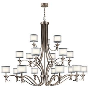 Lacey - Eighteen Light 3-Tier Chandelier - with Transitional inspirations - 53 inches tall by 62 inches wide