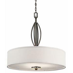 Leighton - Three Light Inverted Drum Shade Pendant