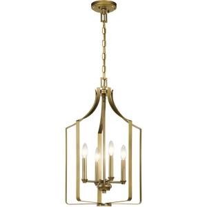 Morrigan - 4 light Mini Chandelier - with Traditional inspirations - 24.25 inches tall by 15 inches wide