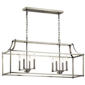 Morrigan - 8 light Linear Chandelier - with Traditional inspirations - 19 inches tall by 12.5 inches wide