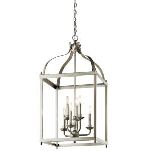 Larkin - 6 light Cage Foyer - with Traditional inspirations - 36.25 inches tall by 18 inches wide