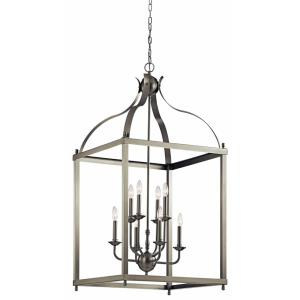 Larkin - 8 light Foyer Chandelier - with Traditional inspirations - 47.75 inches tall by 24 inches wide