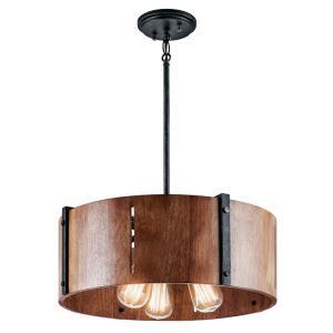 Elbur - Three Light Convertible Pendant