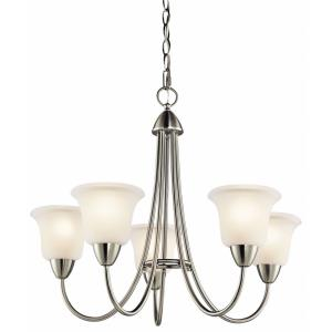 Nicholson - 5 light Chandelier - with Transitional inspirations - 21.5 inches tall by 25 inches wide